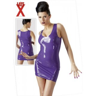 Latex Minikleid Lila
