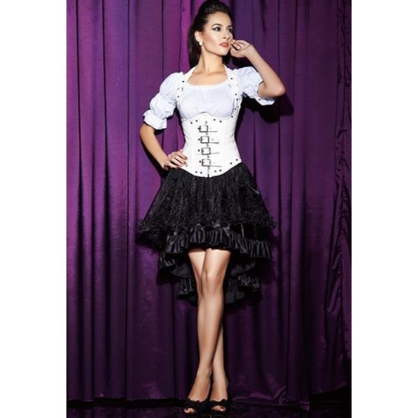 Spitzen und Satin High-Low Rock L/XL