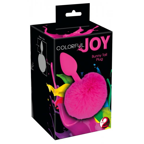 Colorful Joy Bunny Tail Plug